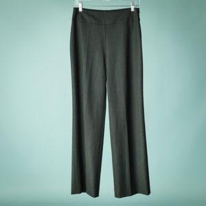Akris 6 Dark Charcoal Gray Wool Straight Leg Pants